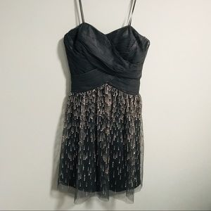 Cache charcoal shimmer mini cocktail prom dress 2